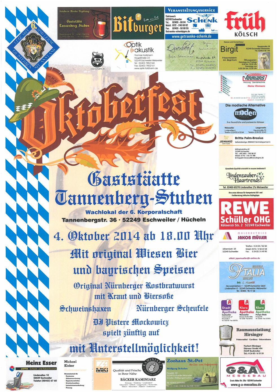 Oktoberfest Weisweiler 2014